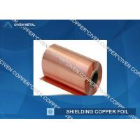 Buy cheap Extraordinary strength Shielding copper foil sheet roll , Conductive Copper Foil from Wholesalers