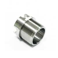 China Titanium Gr2 Metal Bushing Sleeve with threads factory
