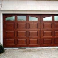 China Wooden Color Garage Door, Made of Steel with Automatic Lighting factory