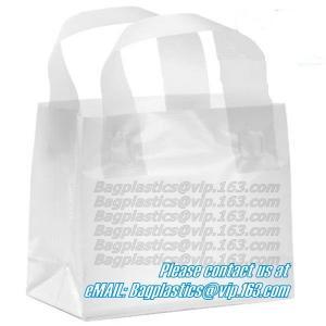 China Wave Top Bags, flexi loop handle, die cut handle, block bottom, string bag, Jewelry factory