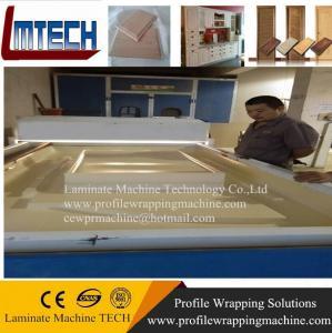 China Teak Melamine Door Skin vacuum membrane press machine on sale