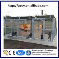 China Galvanized steel cages for dogs fence panels for dogs 5'x9.5'x6',6'x8'x6' 1 ,2 3 sections adjust dog kennels on sale