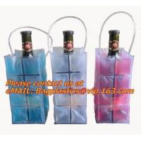 China Promotional PVC cooler bag for wine, Custom Refillable Travel Plastic Pvc Bottle Ice Tote Red Wine Cooler Bag As Gift Wh factory