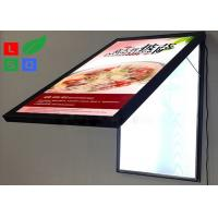 China Door Open LED Light Box Sign , Size A2 Lockable Poster Frame For Restaurant on sale
