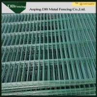 China High Security Green Welded Wire Fence , Curved Steel Mesh Fence Panels on sale