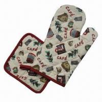 Buy cheap Made of 100% Cotton High Quality Oven Gloves, Pot Holder Set from Wholesalers