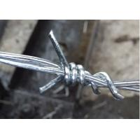 Buy cheap 12*14 Bwg Galvanized Barbed Wire Positive Use With Protective Fence from Wholesalers
