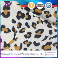 China Leopard Print Sun Protective Wicking Moisture Property Polyester Spandex Sports Fabric on sale