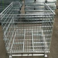 Buy cheap Heavy Duty 50mm Galvanized Welded Metal Storage Cages for Transportation from Wholesalers