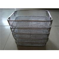 China Sterilisation DIN  Stainless Steel Wire Basket Tray For Medical Or Shopping factory
