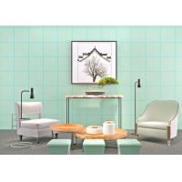Buy cheap Cyan Bronzing Non-Woven Paper Modern Removable Wallpaper for Living Room from Wholesalers