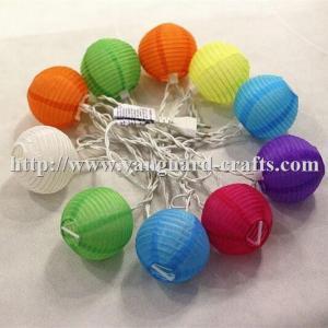 China Colorful nylon lantern LED decoration string lights color string lights lantern string factory