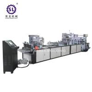 China High Speed sealing cutting plastic zipper bag making machine with slider factory