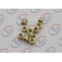 OEM ODM CNC Machining Parts , Swiss Lathe Turning Brass Knurled Nuts with M5 Thread for sale