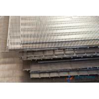 China SS304 & SS316 Series, Flat Wedge Wire Screen, 0.05mm-10mm Slot Hole factory