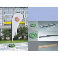 Buy cheap Silk Screen Printing Custom Teardrop Flags Signs For Advertising Single Sided from Wholesalers