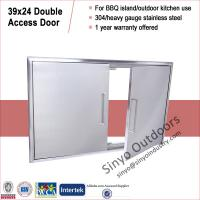 "Buy cheap 304 Stainless Steel Outdoor BBQ Island Access Double Doors 31"" and 39"" from Wholesalers"