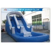 China Amusement Park Bounce Round Water Slide Inflatable Slide With Pool factory