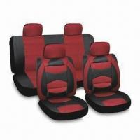 China Seat Cover, Made of PVC, Polyester or Velor, Available in Red factory