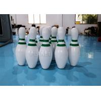 China CE PVC Tarpaulins Inflatable Bowling Pins Set Game With Zorb Ball factory