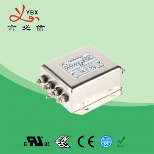 China Low Pass PV Inverter EMI Filter , DC EMI RFI Noise Filter Metal Case factory