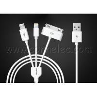 Quality original Pisen 3 in 1 USB cable, Iphone 4(s)USB+Iphone (6, 5) USB+Android wholesale