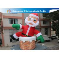 China 10m Big Inflatable Holiday Decorations / Blow Up Father Christmas factory