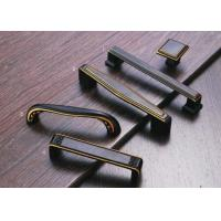 Buy cheap Corosion Resistant Kitchen Cupboard Door Handles Black / Yellow Copper Finish from Wholesalers
