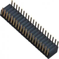 Buy cheap Phosphor Bronze 1.27mm 2x20 Female Header Dual Side Insert 90°DIP H=3.45 ROHS from Wholesalers