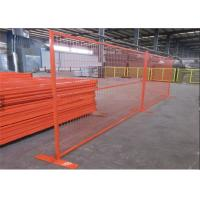 China Orange Construction Temporary Fence / Welded Wire Temporary Fence Panel on sale