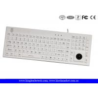 China Function Keys Washable Silicone USB Keyboard Built - In Trackball on sale
