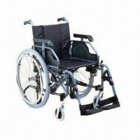China Wheelchair with Adjustable Aluminum Chair Frame factory
