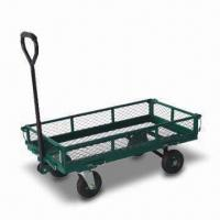 China Garden Cart with Lead-free and UV-resistant Powder Coating, Available in Green and Black factory