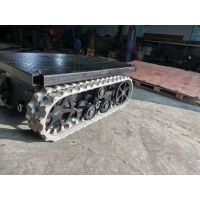 China Small Rubber Track Undercarriage Engineering Machinery with Platform Loading 300kg factory