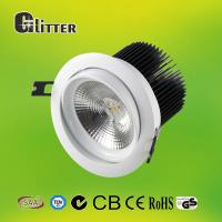 China Recessed Black COB LED Down Light For Home , Dimmable LED fire rated Downlights on sale