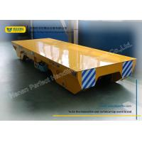 Buy cheap Handling system for Manufacturing Industry Rail Transfer Cart , yellow from Wholesalers