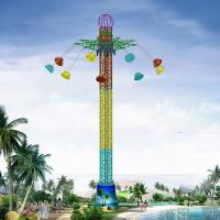 Buy cheap 42m Amusement Park Sky Drop Ride / Drop Tower Ride With 9 Cabins from wholesalers