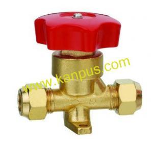 China Refrigeration Flare type brass hand valve (shut off valve) factory