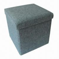 China New Design Foldable Square Ottoman, Measures 38x38x38cm factory