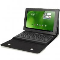 China Wireless Bluetooth Keyboard Folding Profolio Leather Case for Acer Iconia A500 factory