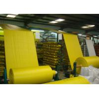 Buy cheap Rolled Woven Polypropylene Cloth , Yellow Offset Print Rice Sack Fabric UV Treated from Wholesalers