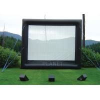 China Safety Inflatable Movie Screen Rental  / Inflatable TV Screen Reinforced Oxford Cloth factory