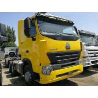Buy cheap 8800kg Curb Weight Tractor Head Trailer , Yellow Heavy Truck Trailer LHD / RHD from Wholesalers