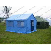 Buy cheap Soft PVC Windows Outdoor Event Tent , Blue Roof Cover Refugee Tent For Disaster Relief from Wholesalers