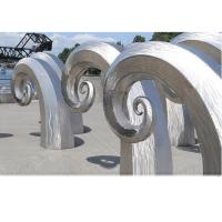 Buy cheap Public Art Large Metal Wave Sculpture , Outdoor Abstract Steel Sculpture from Wholesalers