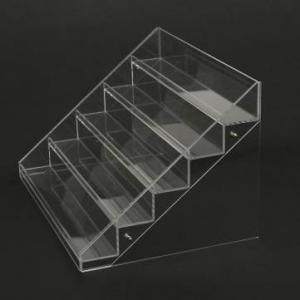 China acrylic cosmetic display stands/transparent acrylic nail polish displays rack factory