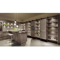 Buy cheap Gray Solid Wood Kitchen Cabinets / Full Kitchen Cabinet Set Adjustable Legs from Wholesalers