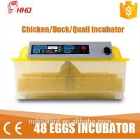 Quality 2016 top selling 1 Year warranty CE passes Automatic 48 chicken egg 132 quail bird mini egg incubator   for sale YZ8-48 for sale