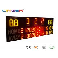 China Outside UV Protection 12 / 20 Inch LED Electronic Baseball Scoreboard in Yellow and Red Color factory