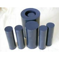 China 100mm Width Black  Rods / PTFE Rod For Chemical , Self Lubricating on sale